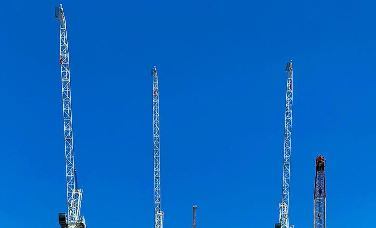 Cranes, Stratford East London