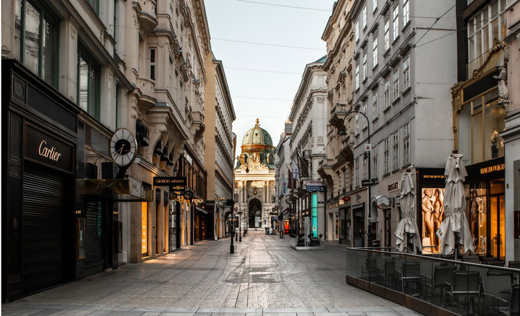 Deserted Vienna street