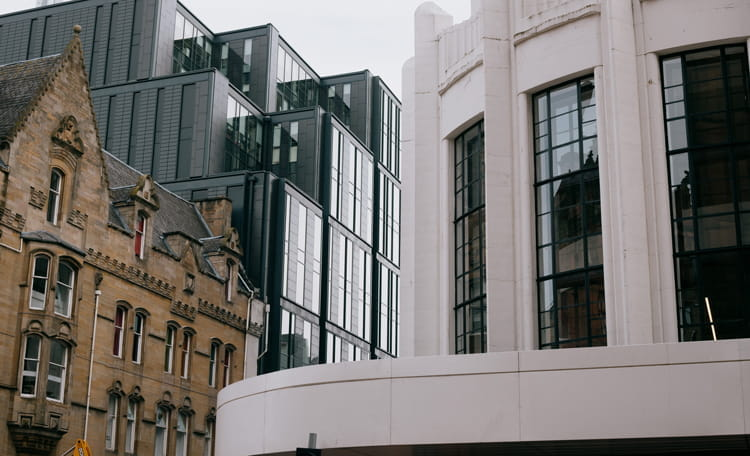 Old building, new building Glasgow