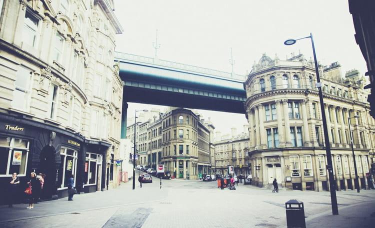 Bottom of Grey Street, Newcastle
