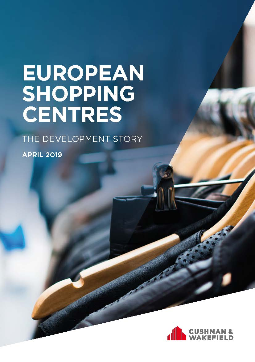 European Shopping Centres report cover with black clothes on hangers
