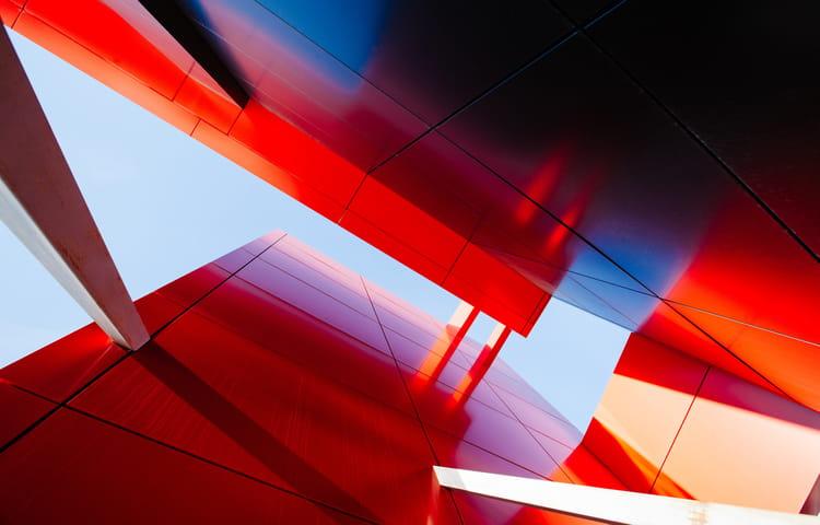 red steel building
