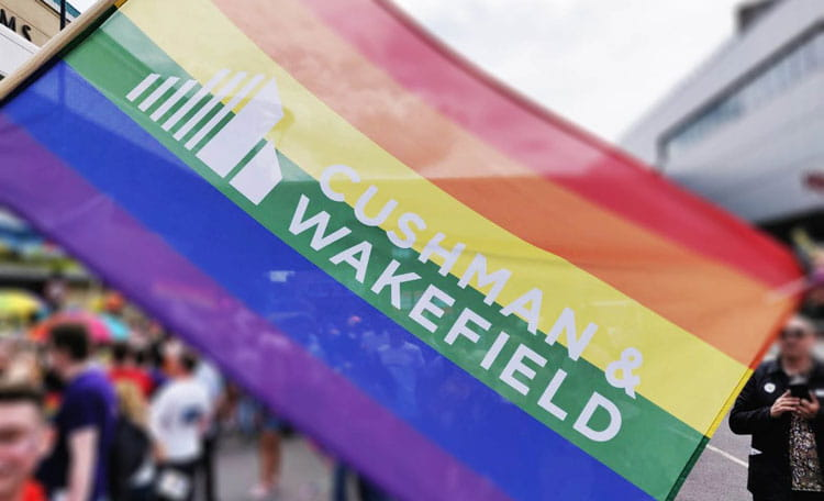 Rainbow flag Cushman & Wakefield Unity