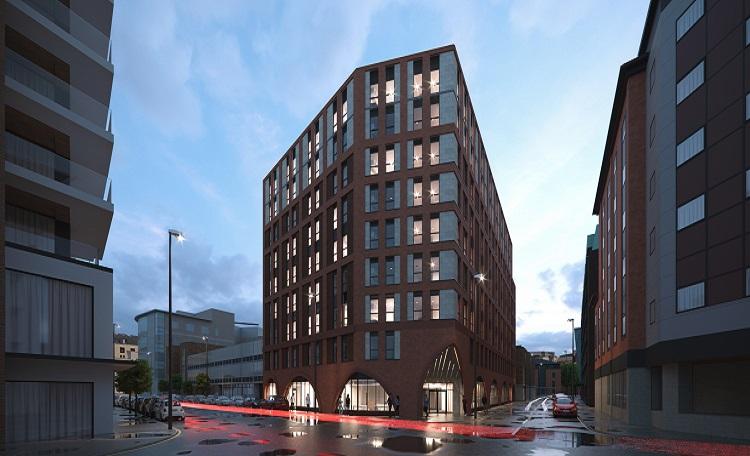 PBSA scheme in Bristol city centre