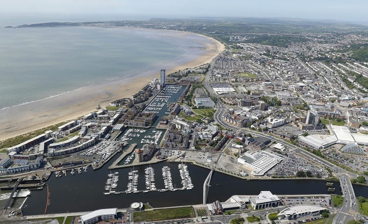 Swansea City Centre & Beach