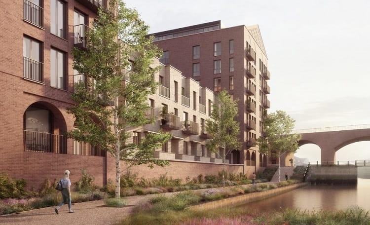 CGI image of the development on Lightbody Street, Liverpool