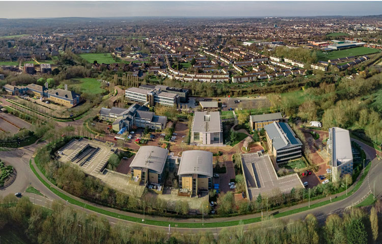The Oxford Science Park aerial