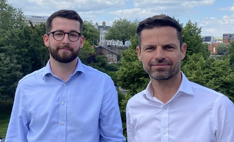 Alfie Passingham (Associate) and Steve Lane (Partner), C&W Bristol