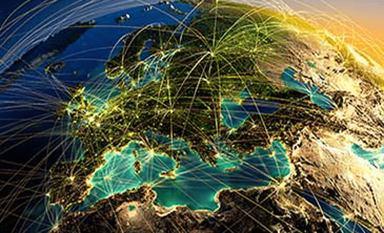 globe map (image)