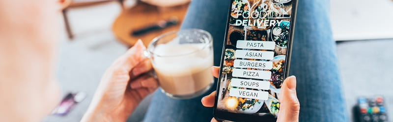 Delivery app (image)