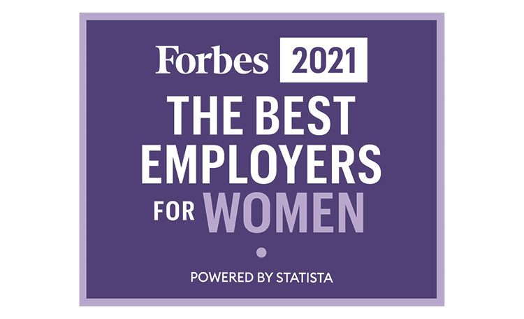 Forbes 2021 The Best Employers for Women (image)