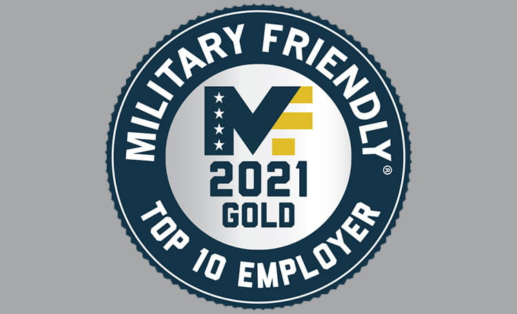 2021 Military Friendly Employer Gold Award (image)