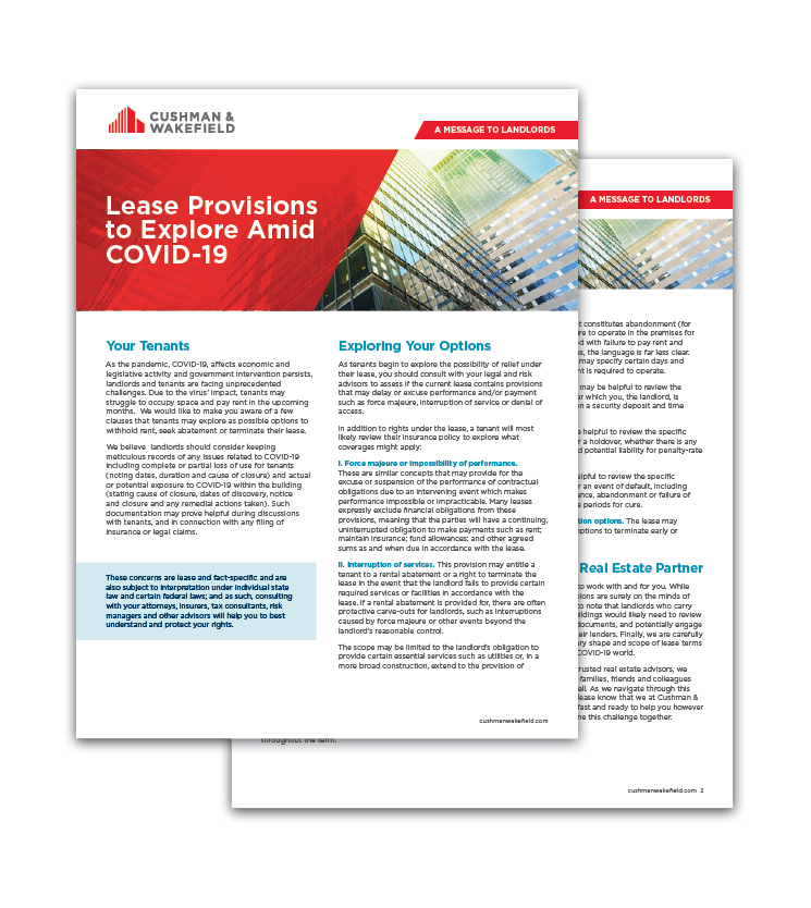 Lease provisions for landlords (image)